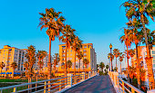 istock Oceanside Pier's walkway leads to the downtown district of Oceanside, California 1319857688
