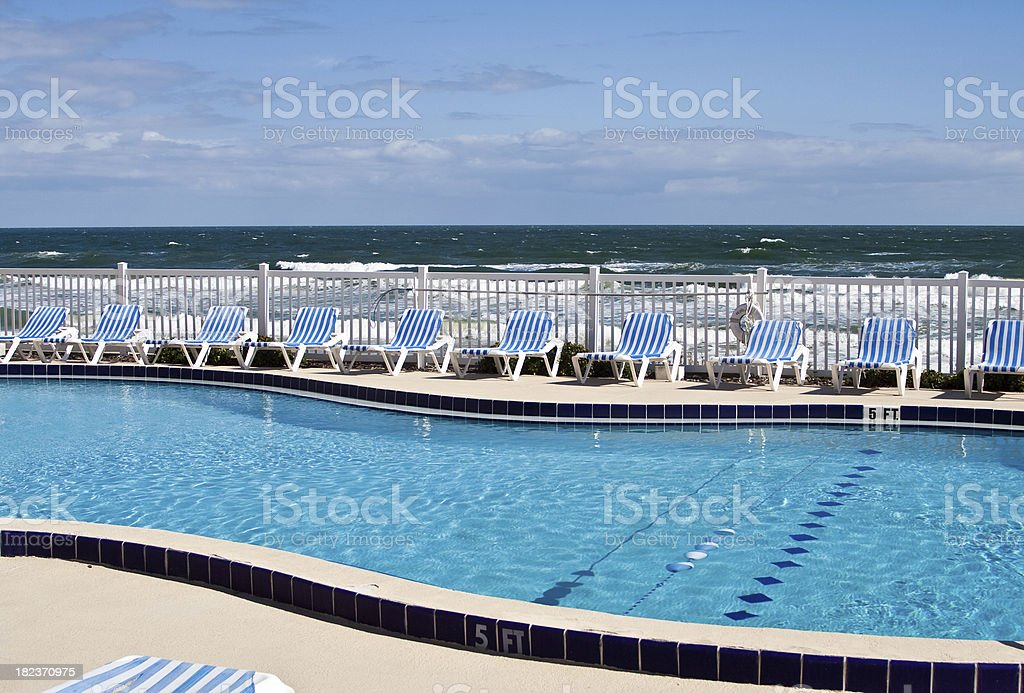 Oceanside Pool royalty-free stock photo