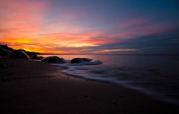 Oceanside Sunset stock photo