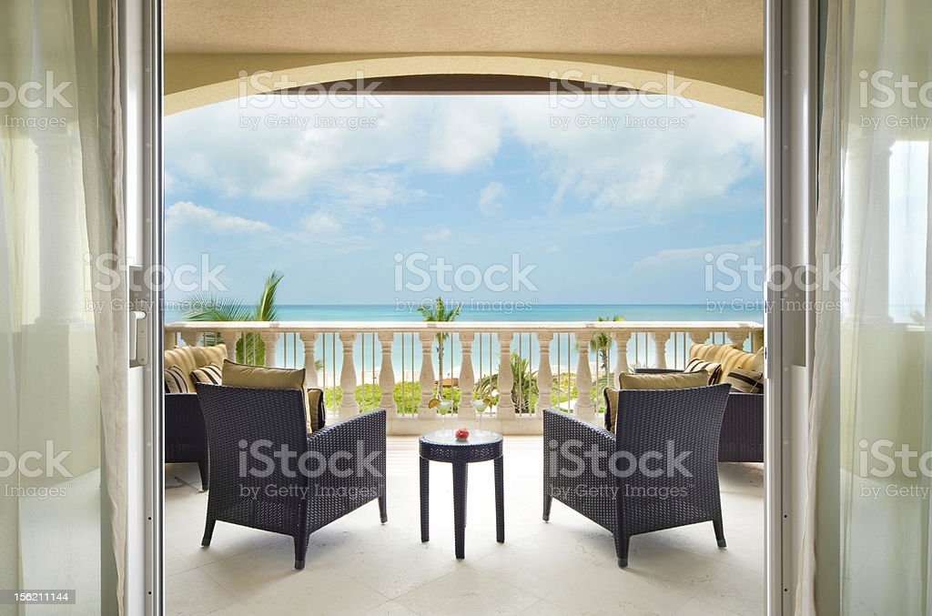 Oceanview Veranda royalty-free stock photo