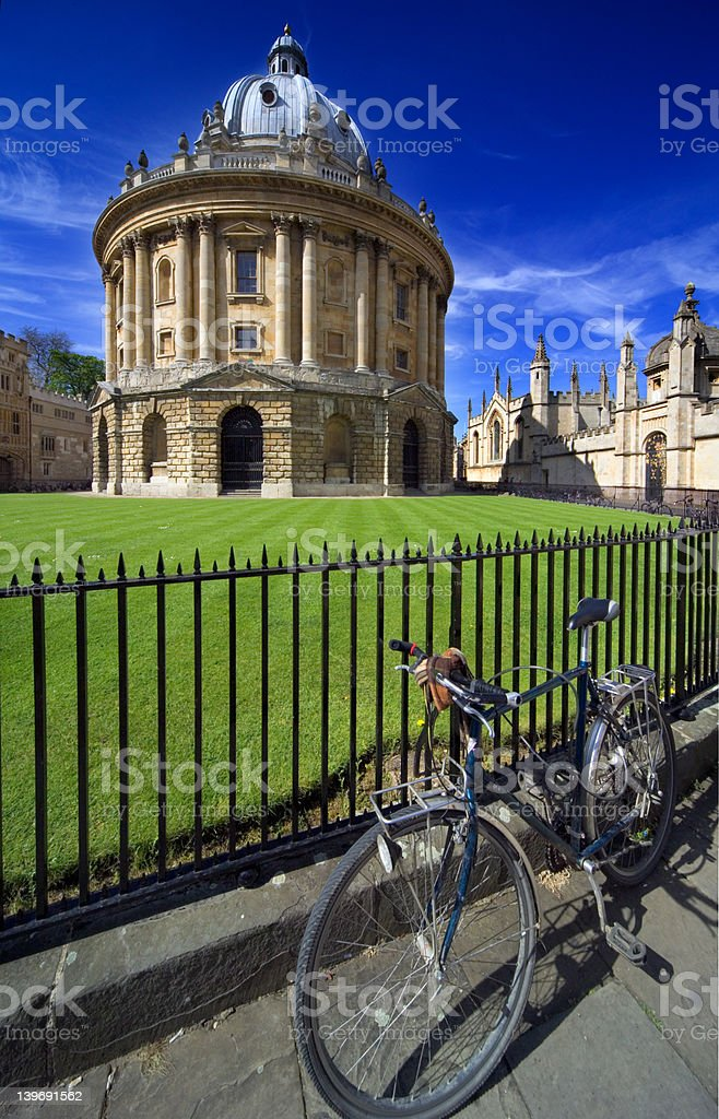 Ocford, the Radcliffe Library. stock photo