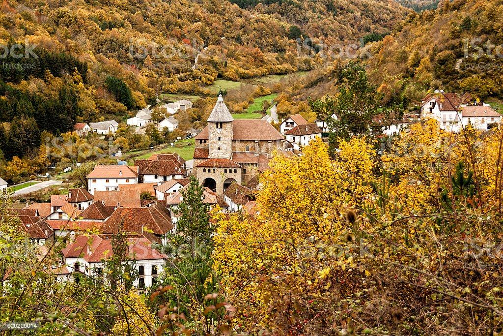 Ochagavia village in Navarra Spain - foto de stock
