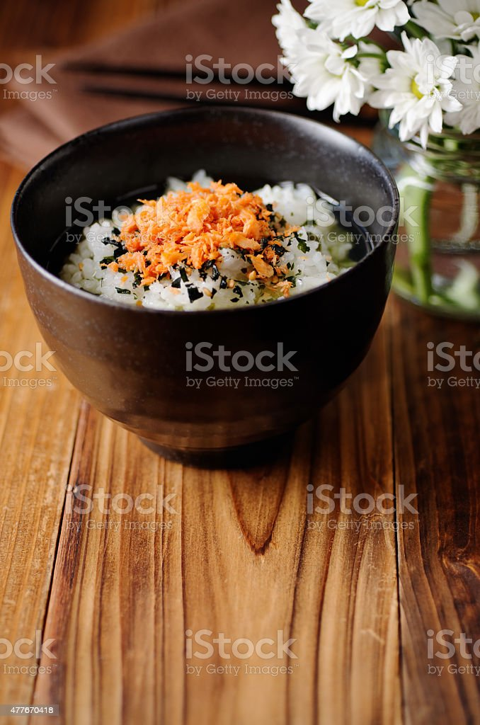 Ochazuke On Table stock photo