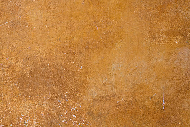 """ocher  painted wall in ancient Pompeii ruine, grunge texture """"ocher  painted wall in ancient Pompeii ruine, grunge textureTo see more photos of the beautiful Campania region in Italy Similar  click here."""" ruine stock pictures, royalty-free photos & images"""