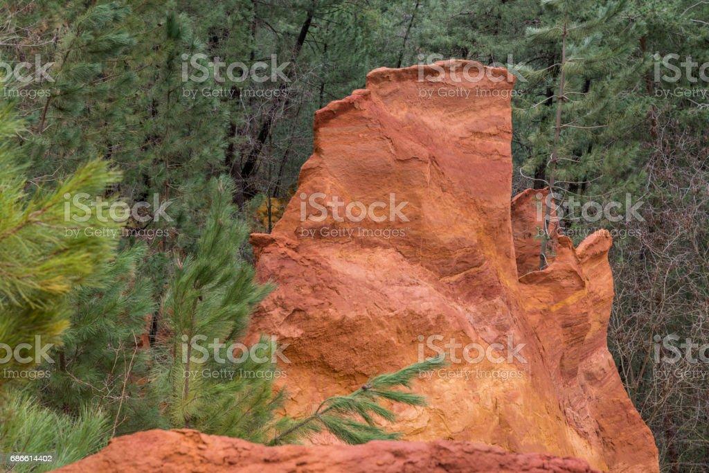 Ochery rocks royalty-free stock photo