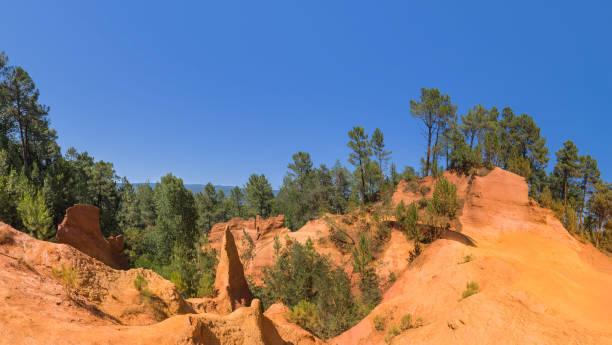 Ochre canyon near Roussillon in Provence France stock photo