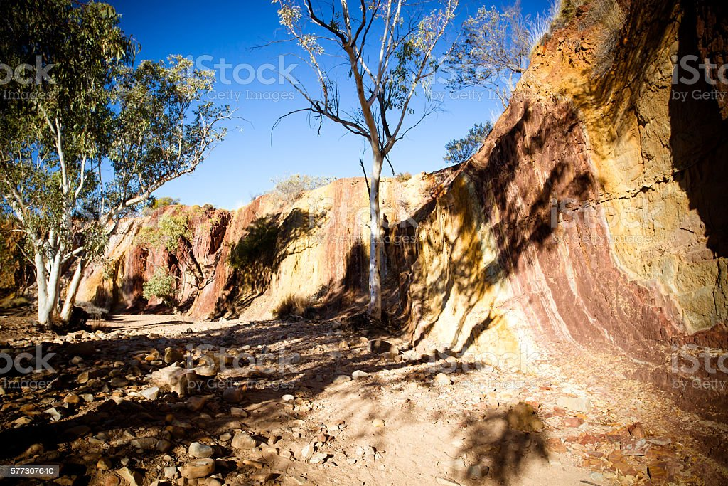 Ochre Pits stock photo
