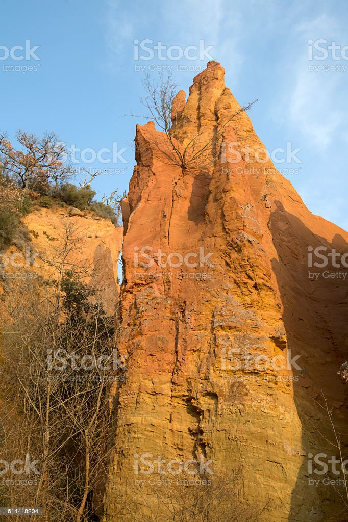 Ochres Deposits in Rustrel, Provence, Luberon stock photo