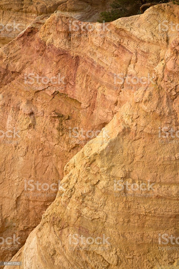 Ochres Deposits in Rustrel, Provence stock photo