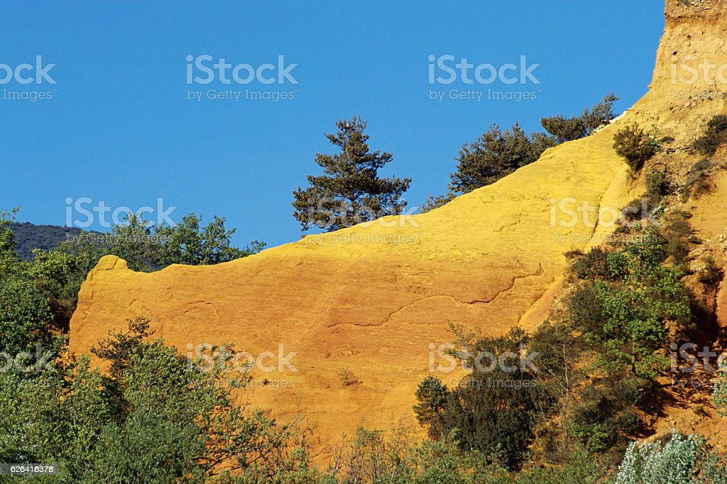 Ochres of Rustrel colorado, France stock photo