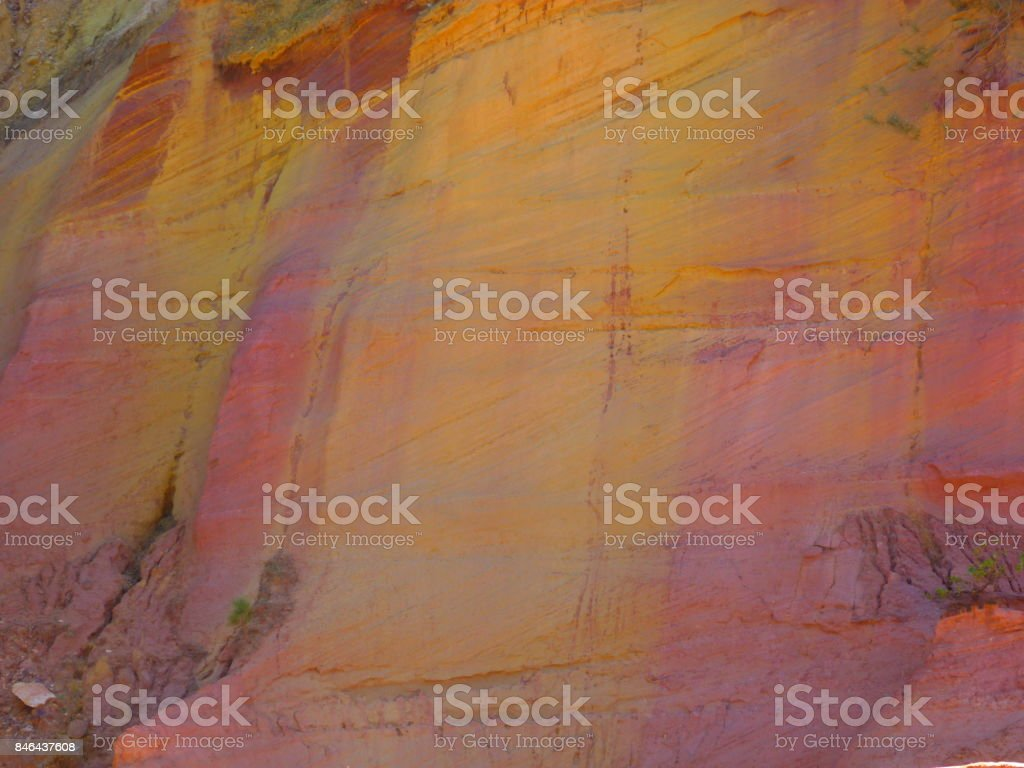 Ochres Roussillon trail, France stock photo