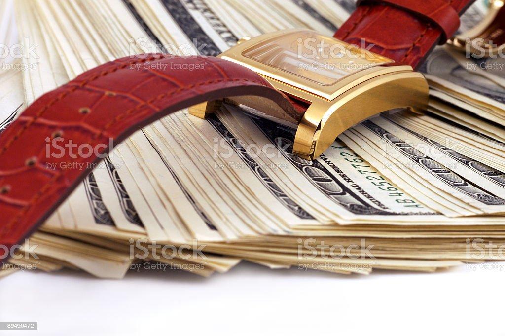 o'clock i pieniądze zbiór zdjęć royalty-free