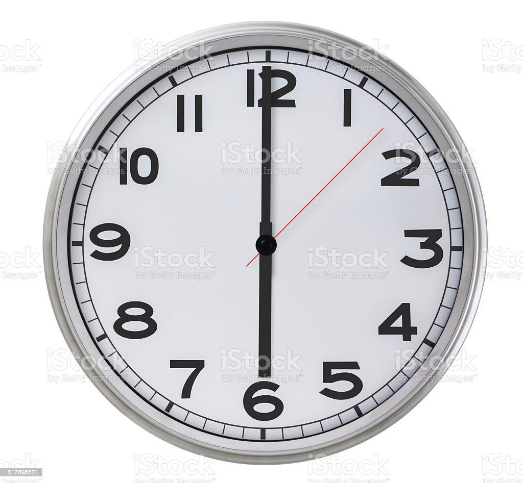 6 o'clock stock photo