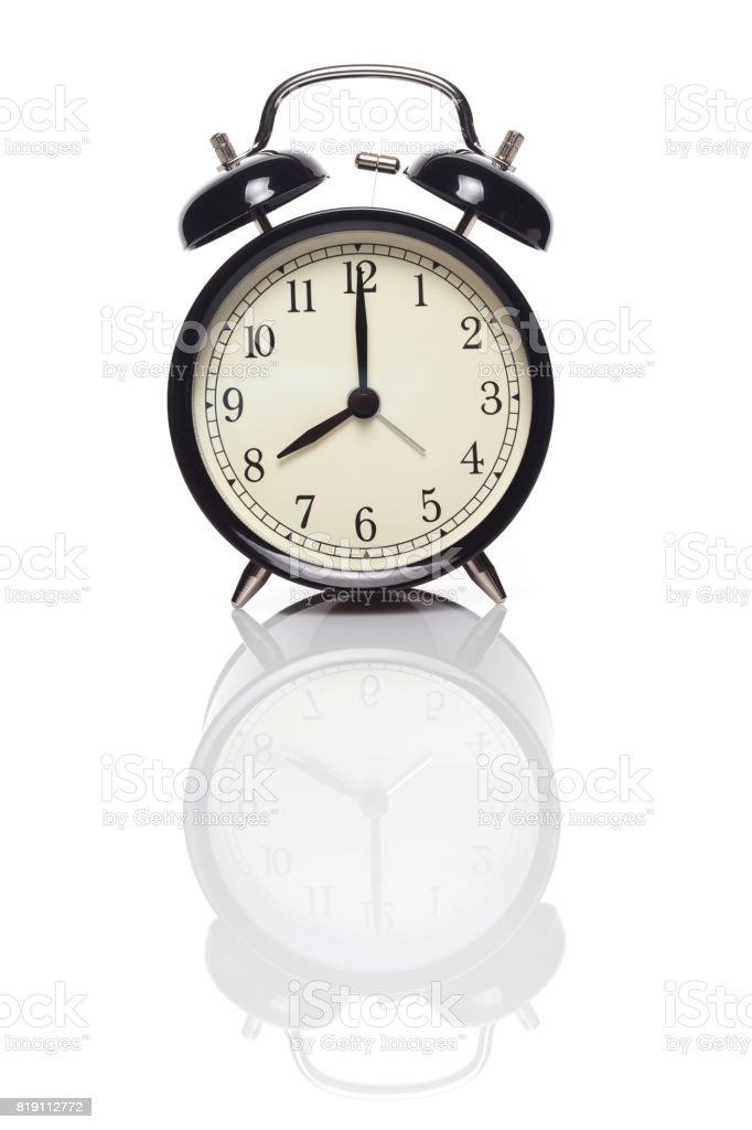 8 o'clock stock photo