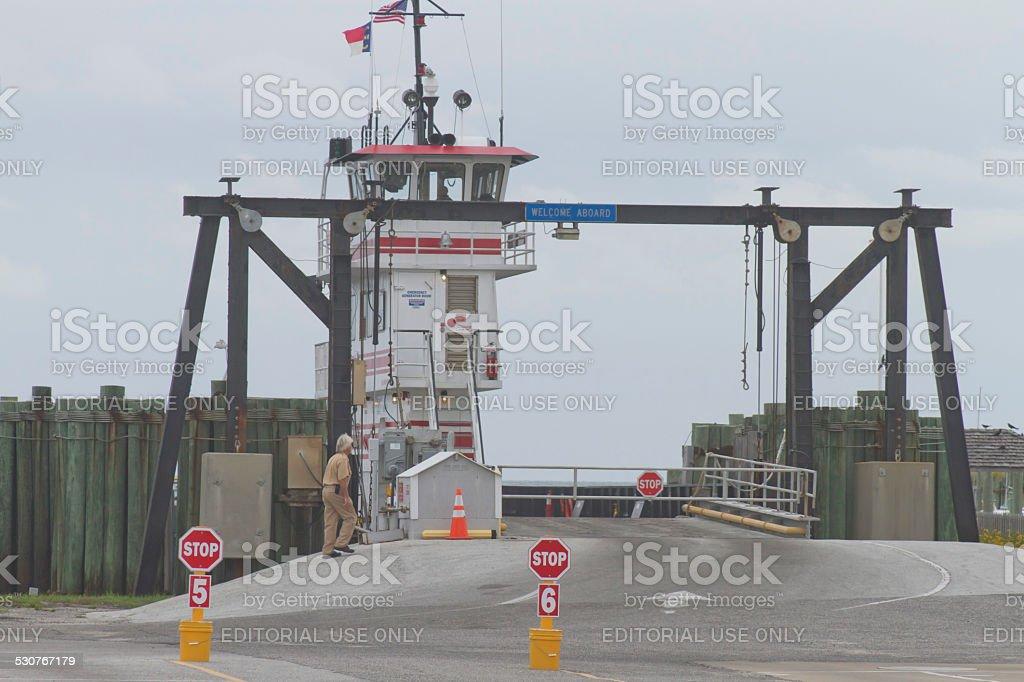 Ocracoke Ferry Entrance stock photo