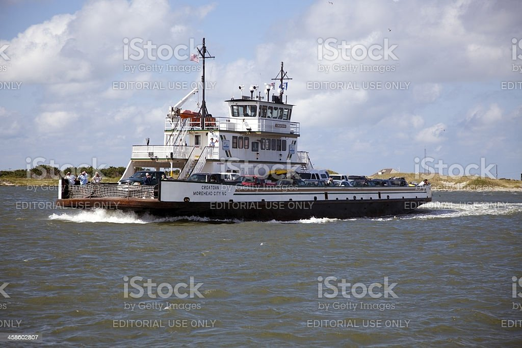 Ocracoke Ferry stock photo