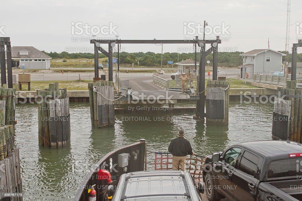 Ocracoke Ferry Ride stock photo
