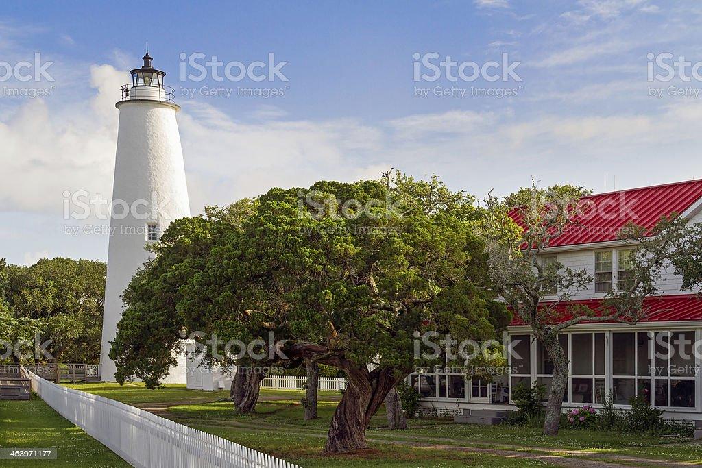 Ocracoke Lighthouse royalty-free stock photo