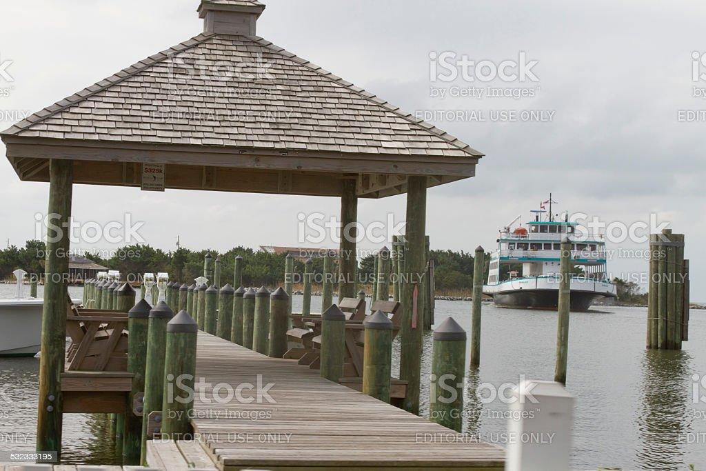 Ocracoke Pier stock photo