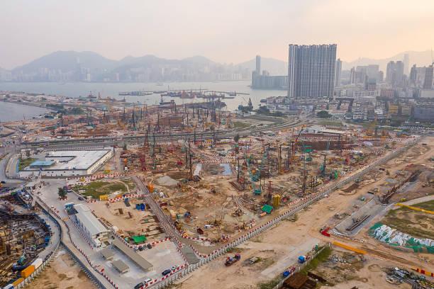 2019年10月19日,香港舊機場區城市發展圖像檔