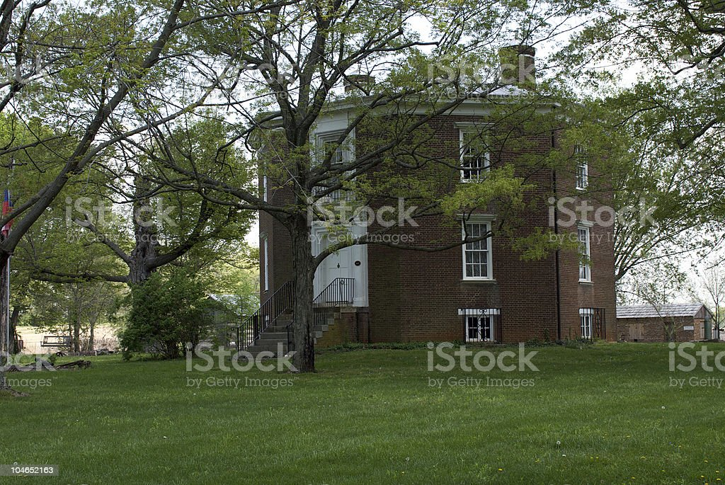 Octagon House stock photo