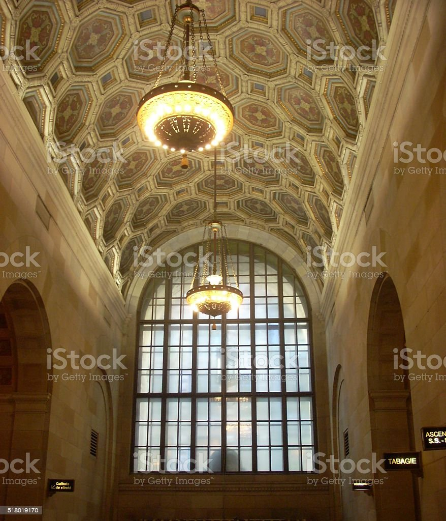 Octagonal Roof Detail in Historic Building stock photo