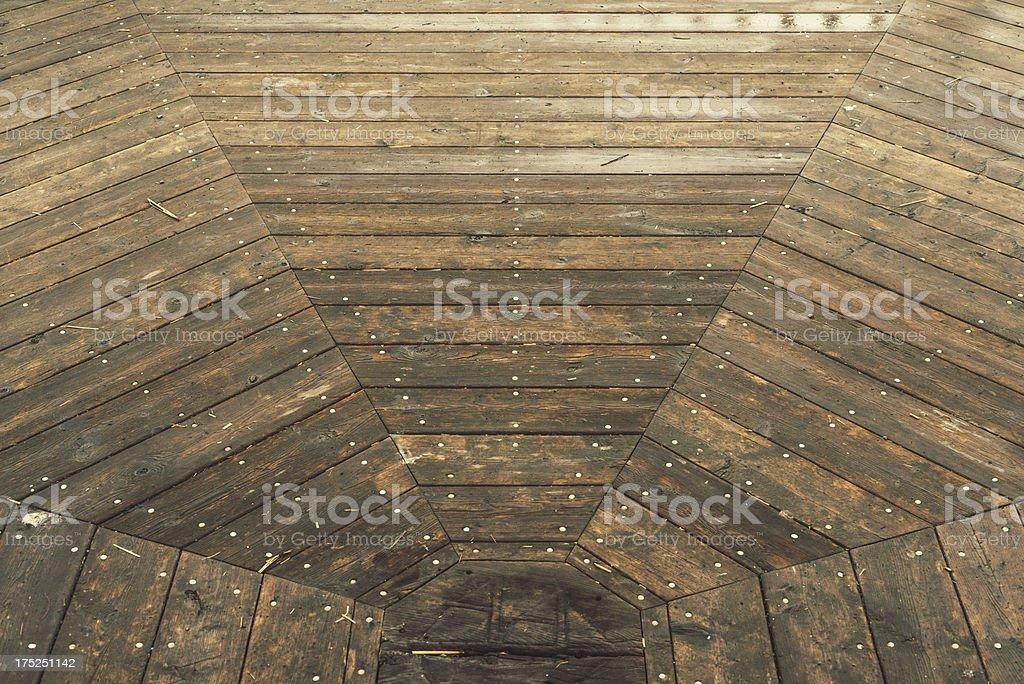 Octagonal Wood royalty-free stock photo
