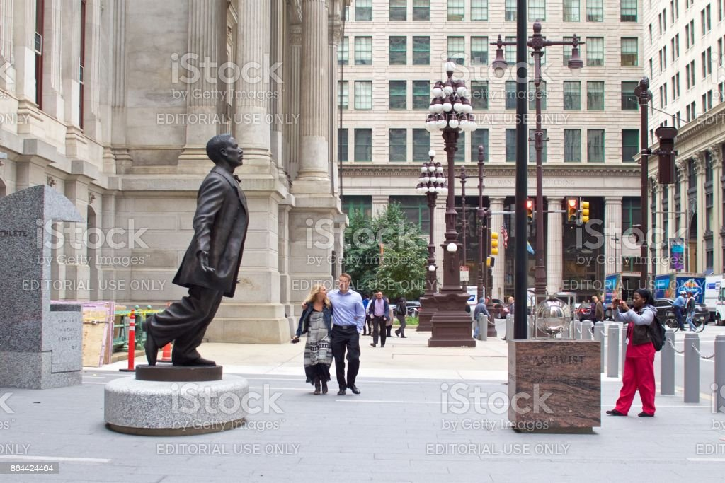 Octavius Catto statue in Philadelphia stock photo