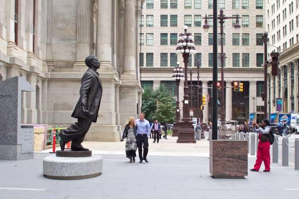 Octavius Catto statue in Philadelphia stock photo