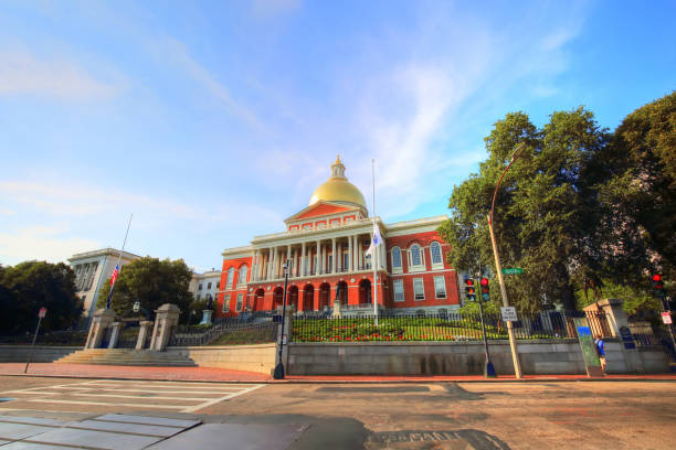 BOSTON, MA, USA – October 16, 2017: Massachusetts State House, an attraction frequently visited by numerous tourists stock photo