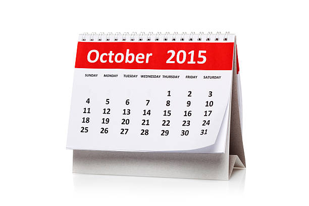 October 2015 stock photo