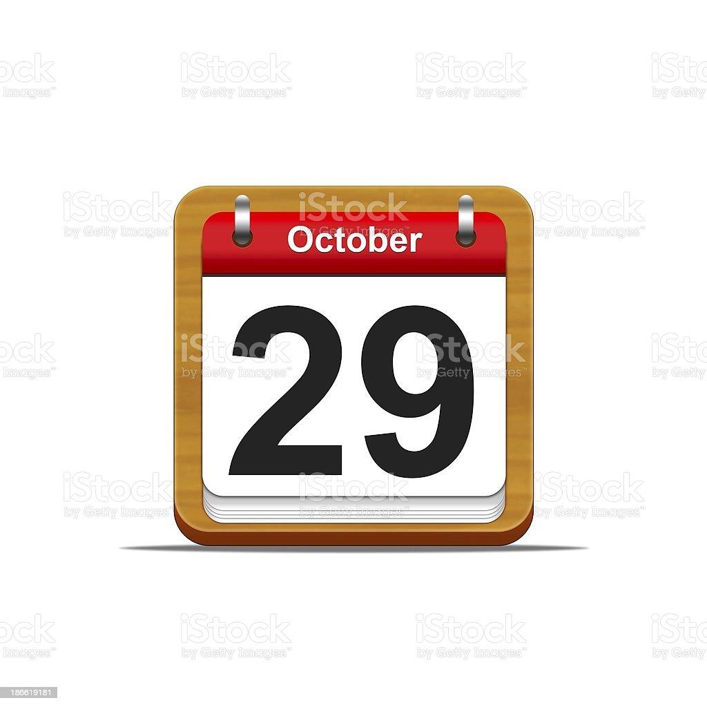 October 29. royalty-free stock photo