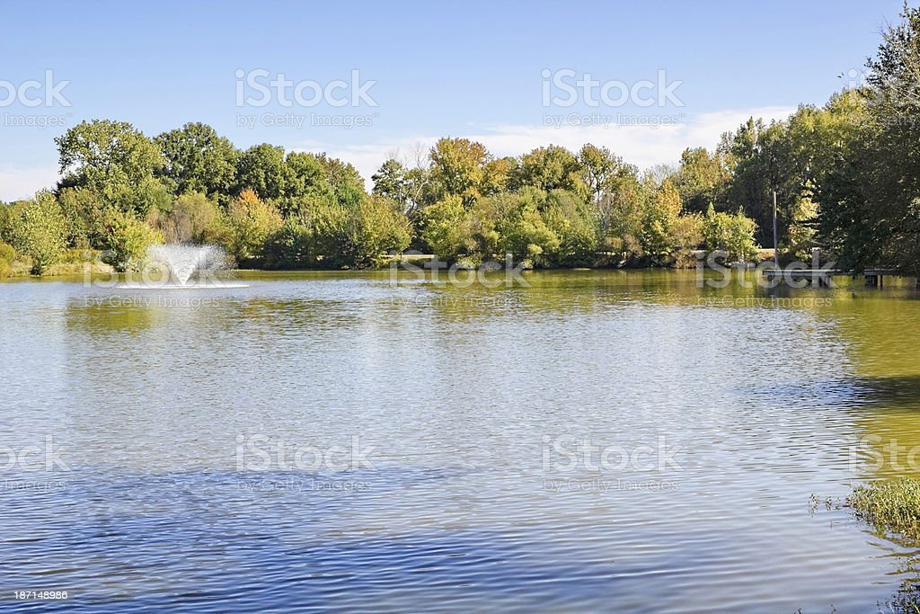 October afternoon in South Carolina at the lake royalty-free stock photo