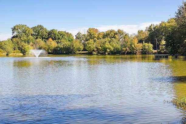 October afternoon in South Carolina at the lake stock photo