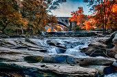 October at Berea Falls, Cleveland Ohio