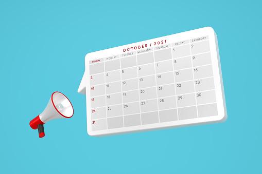 2021 October Calendar