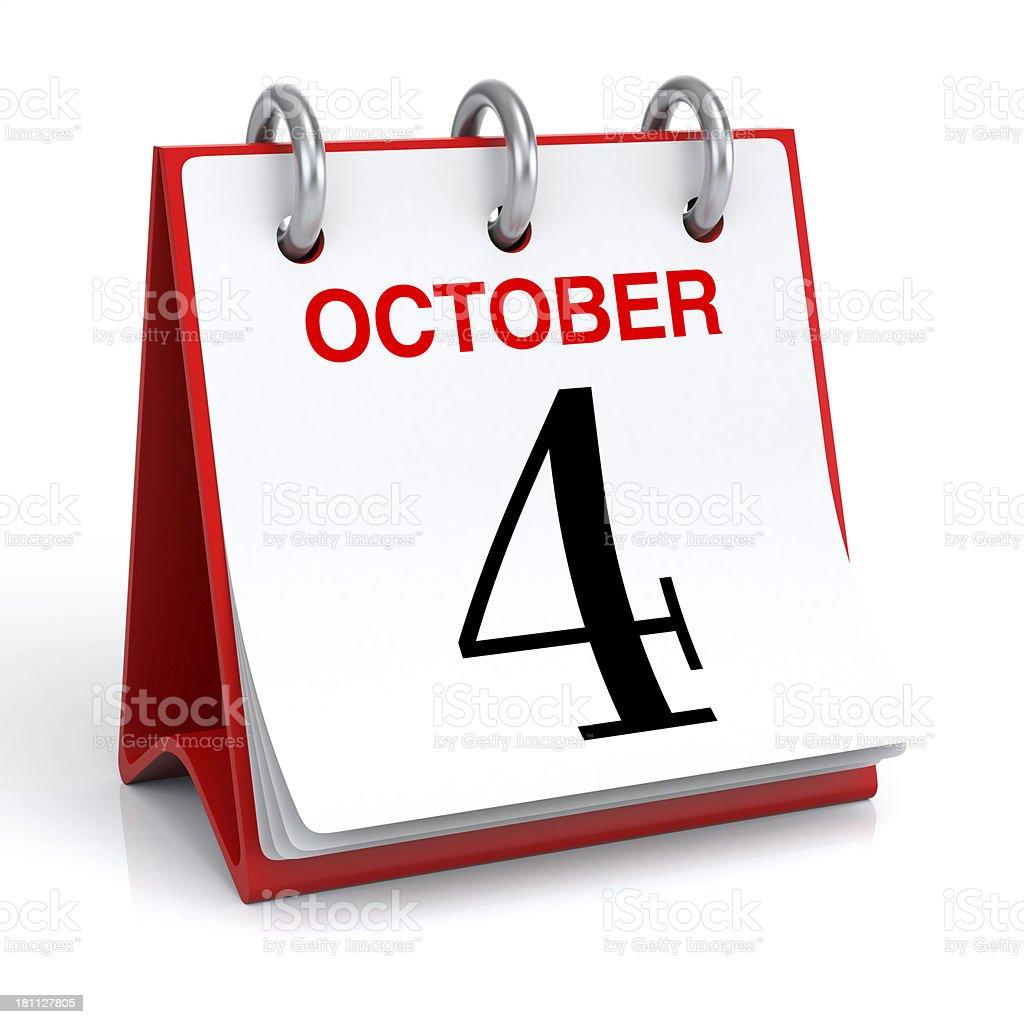 October Calendar royalty-free stock photo