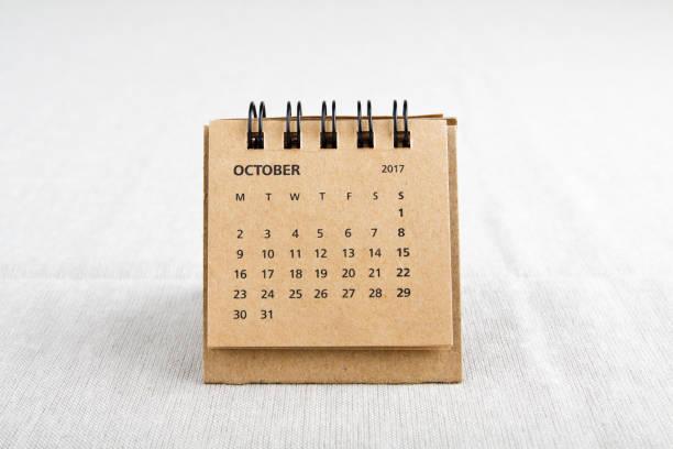 oktober. kalenderblatt. - donnerstagnachmittag stock-fotos und bilder