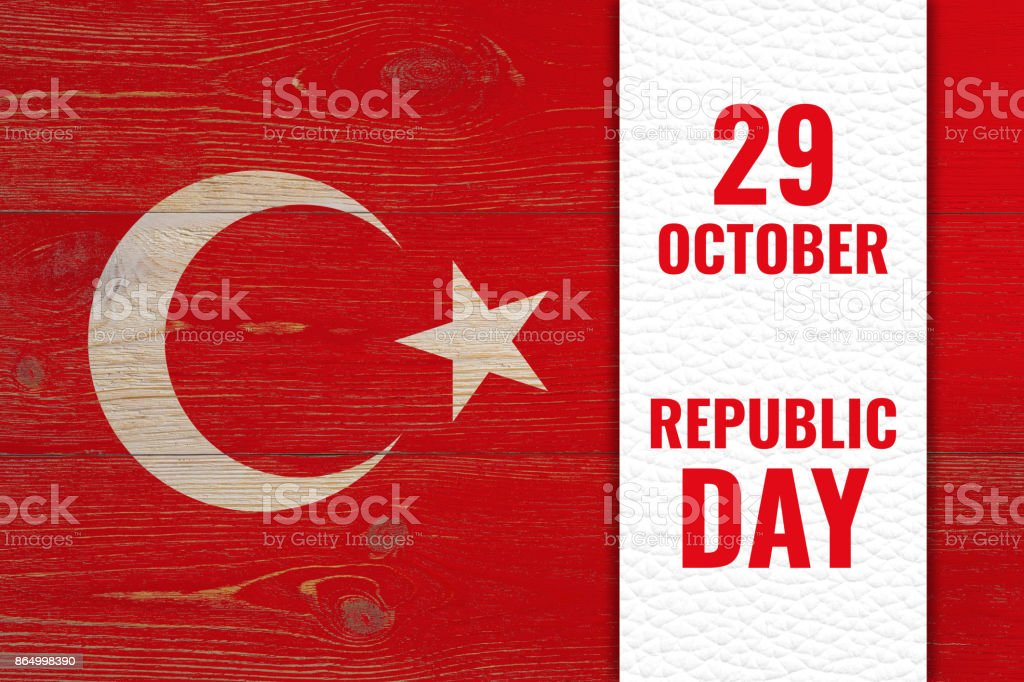 29 october - republic day, turkish national holiday - foto stock