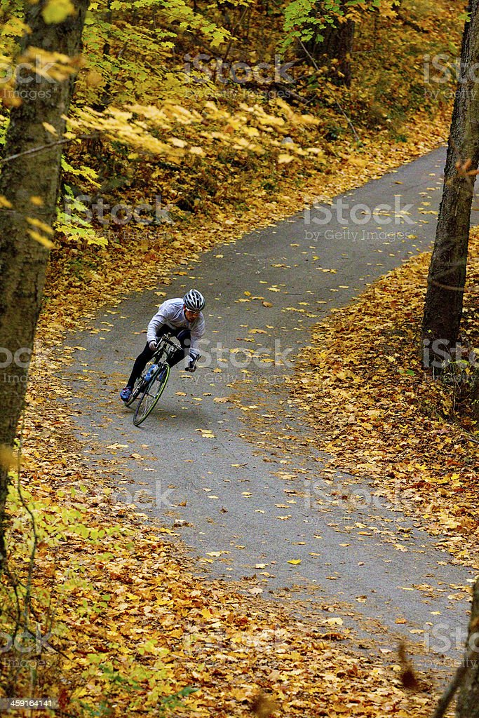 October Road Bicycling stock photo
