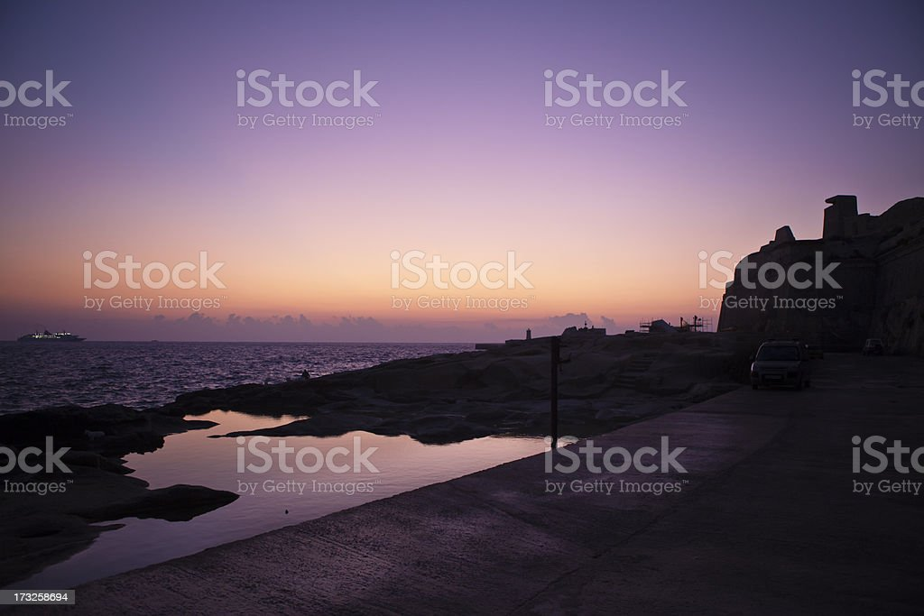 October Sunrise at St. Elmo Point royalty-free stock photo