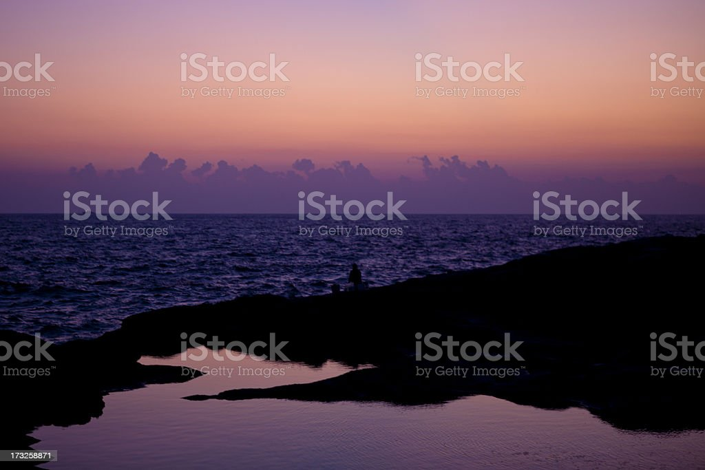 October Sunrise at St. Elmo Point royalty-free stock photo