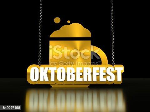 istock Octoberfest isometric text 842097198