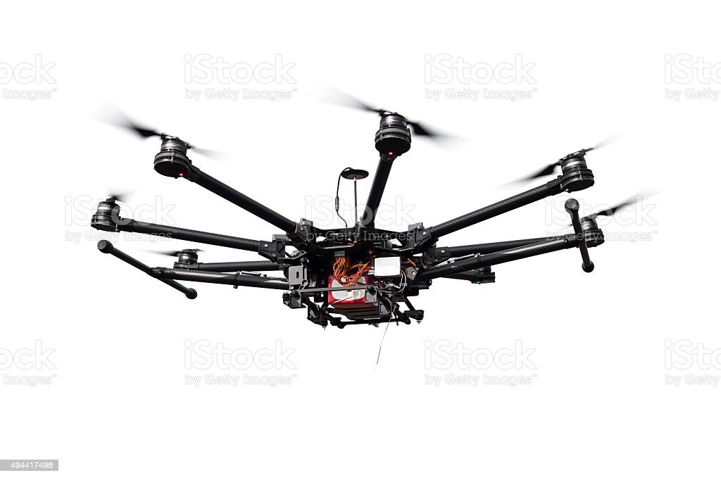 Octocopter, copter, quadrocopter stock photo