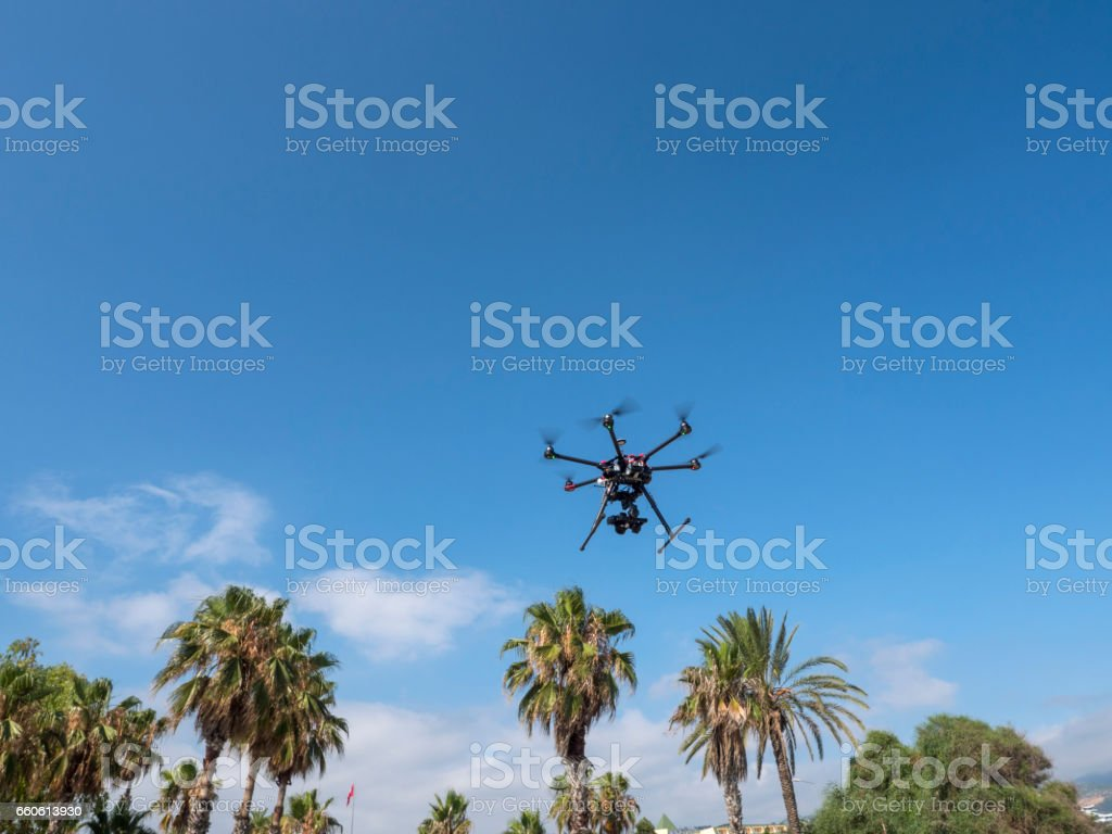 Octocopter royalty-free stock photo