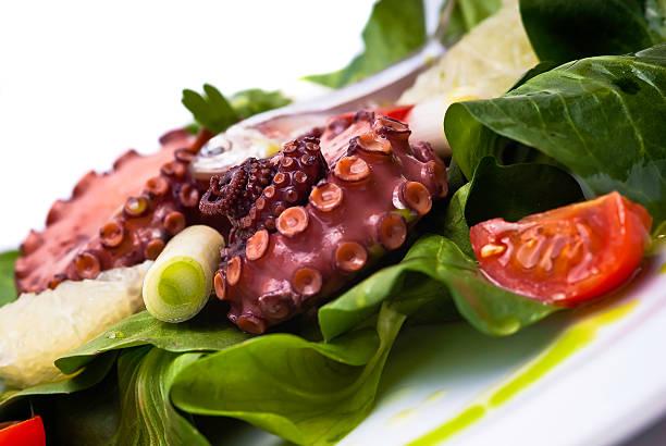 Octopus and sardine salad stock photo