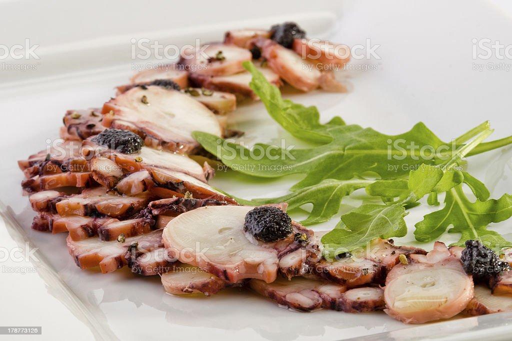 Octopus carpaccio royalty-free stock photo