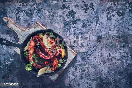 Octopus Ceviche with Fish, Onion, Chili Pepper and Lemon