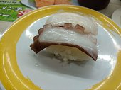 Nigiri sushi of raw octopus japanese style