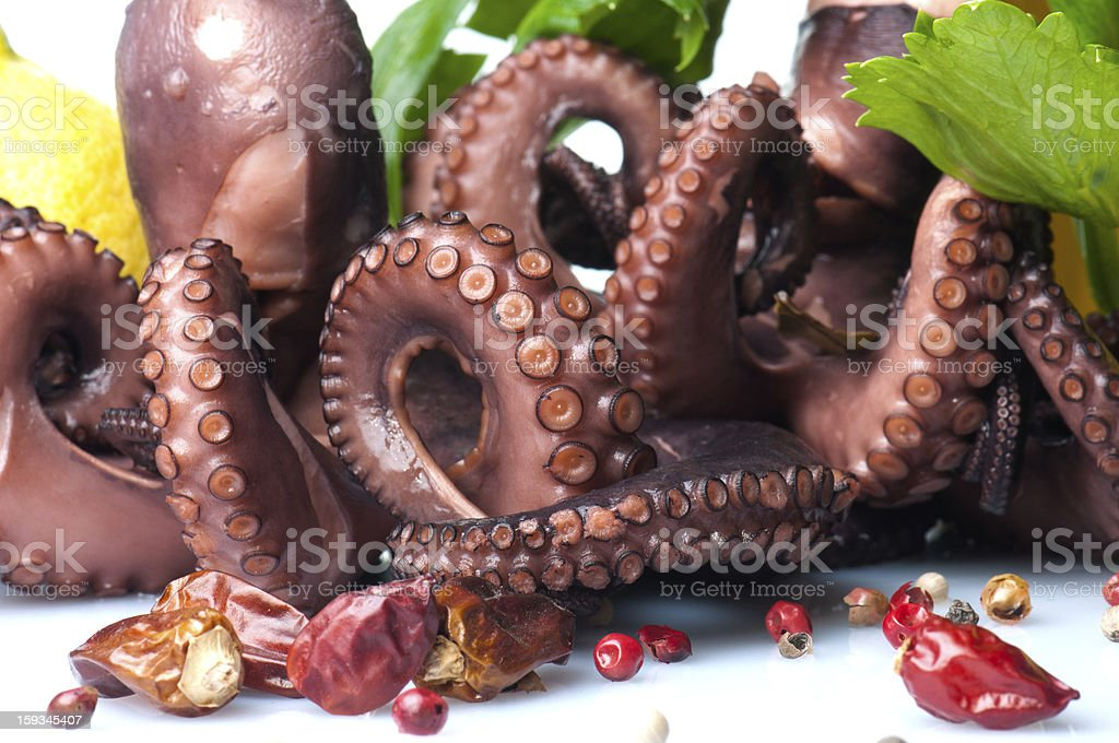 octopus salad royalty-free stock photo
